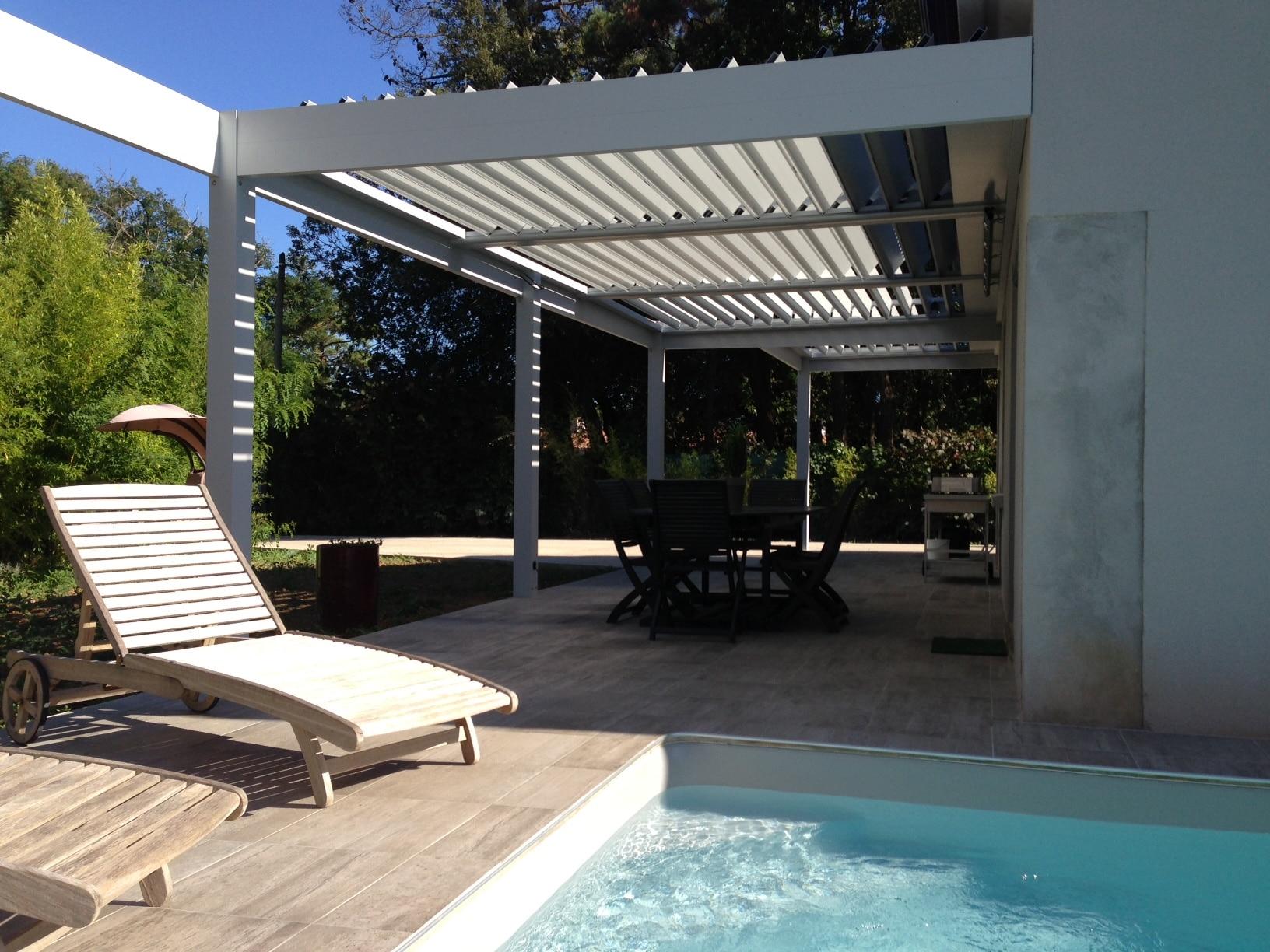 pergola bioclimatique store and co. Black Bedroom Furniture Sets. Home Design Ideas